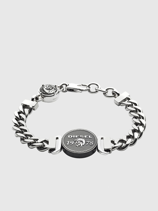 Diesel BRACELET DX1090, Silver - Bracelets - Image 1
