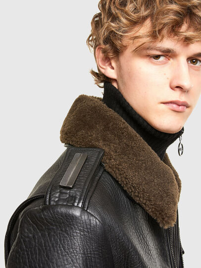 Diesel - L-FRED, Black - Leather jackets - Image 3