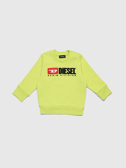 Diesel - SCREWDIVISIONB-R, Yellow Fluo - Sweaters - Image 1