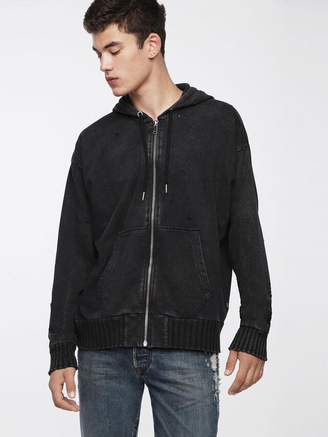 Diesel - S-STAPP, Black - Sweaters - Image 1