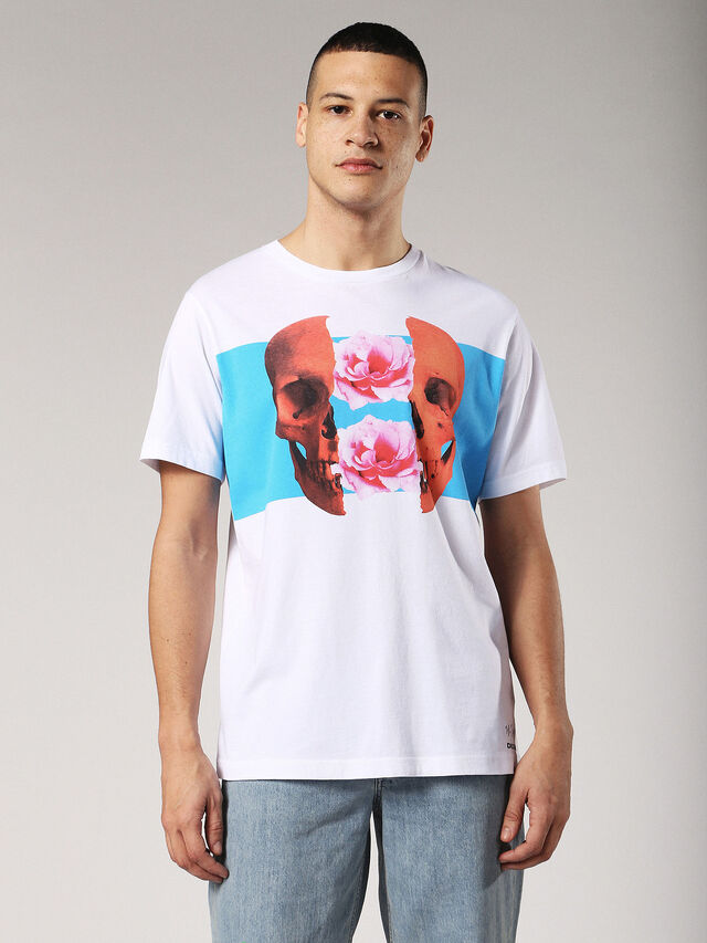 Diesel - T-JUST-SW, White - T-Shirts - Image 1
