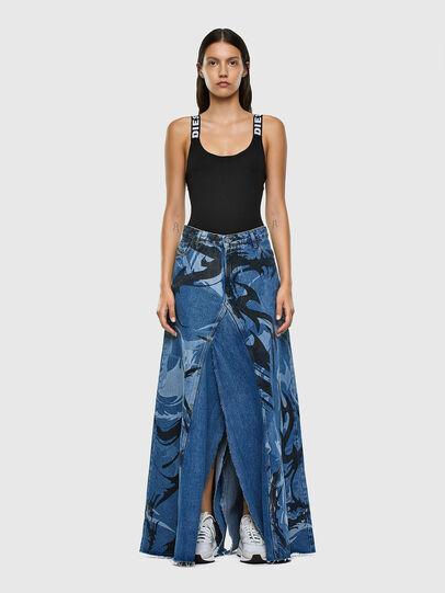 Diesel - DE-SPIZ, Light Blue - Skirts - Image 5