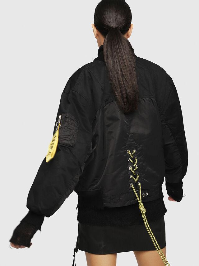 Diesel - W-ZALIA, Black - Winter Jackets - Image 2