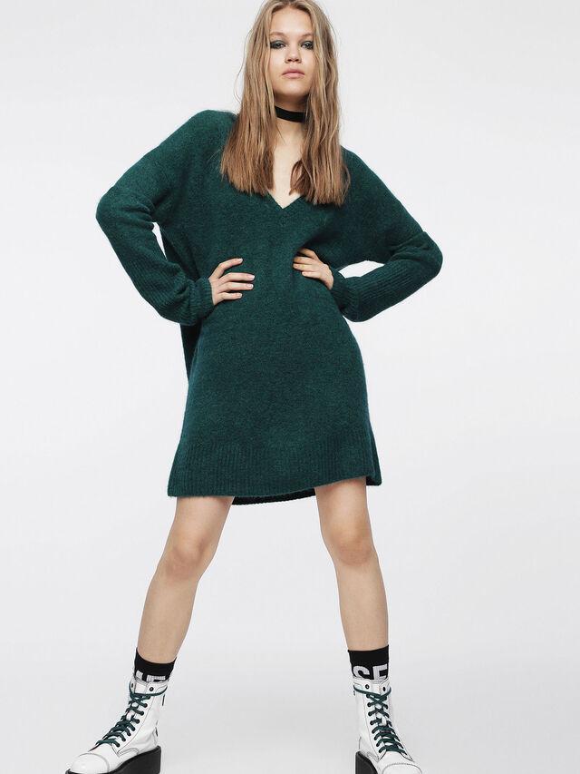 Diesel - M-SOFTY, Bottle Green - Dresses - Image 1