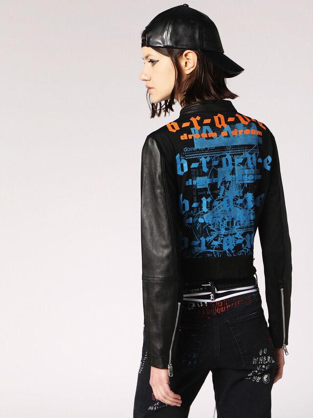 Diesel - L-LYSSA-B, Black Leather - Leather jackets - Image 2