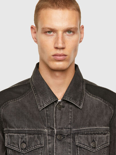 Diesel - NHILL-ROD-SP, Black - Denim Jackets - Image 3