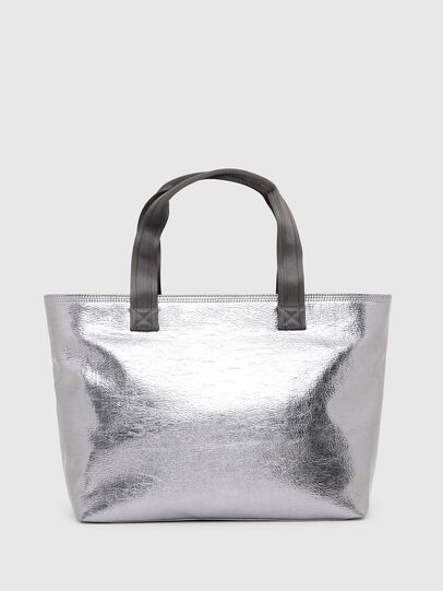 Diesel - F-BOLD SHOPPER III, Silver - Shopping and Shoulder Bags - Image 2