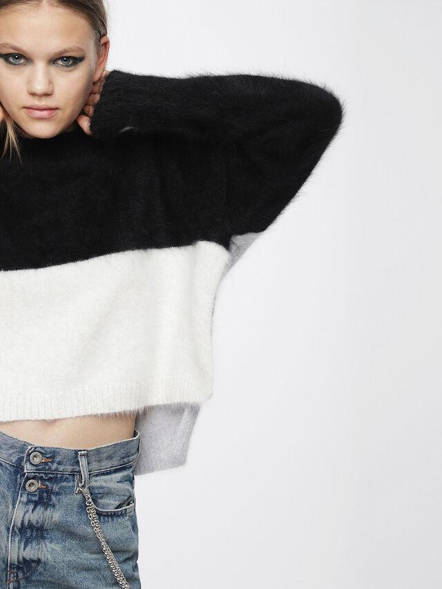 Diesel - M-AIRY, Black/White - Knitwear - Image 1