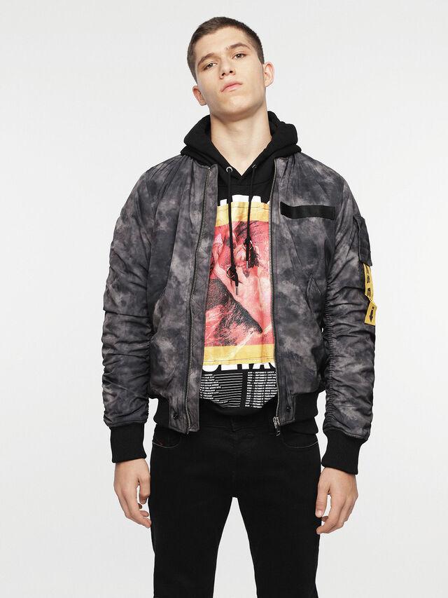 Diesel - W-NOVELS, Black Melange - Jackets - Image 1