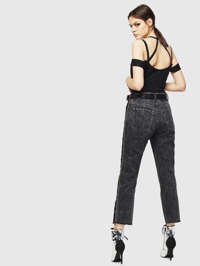 Diesel - P-GITTE-NEW, Black/Dark grey - Pants - Image 2