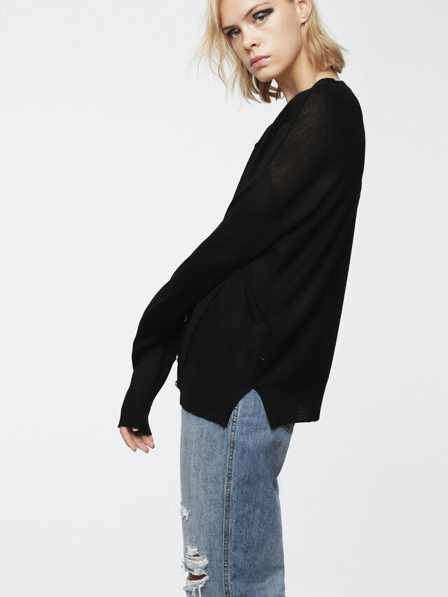 Diesel - M-STILES, Black - Knitwear - Image 4