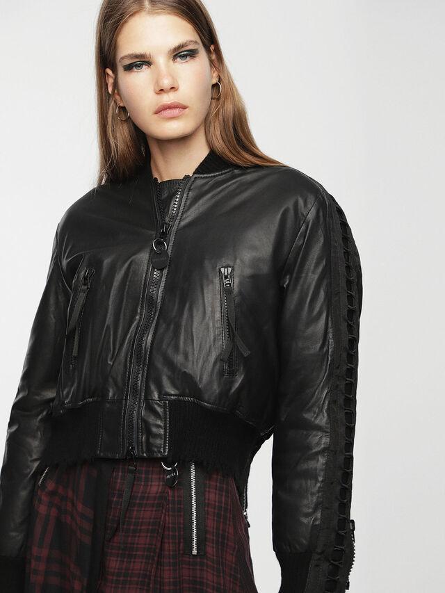 Diesel - L-WICA, Black - Leather jackets - Image 7