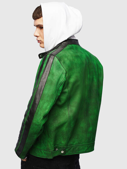 Diesel - L-BOY-A, Green - Leather jackets - Image 2