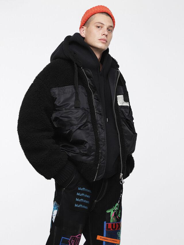 Diesel - W-PATTY, Black - Winter Jackets - Image 1