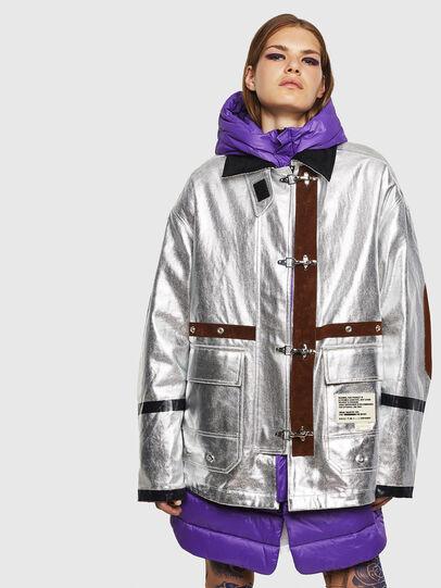 Diesel - W-GELYA, Silver - Winter Jackets - Image 1