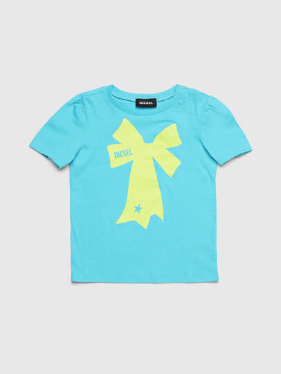 Diesel - TASHAB-R, Azure - T-shirts and Tops - Image 1