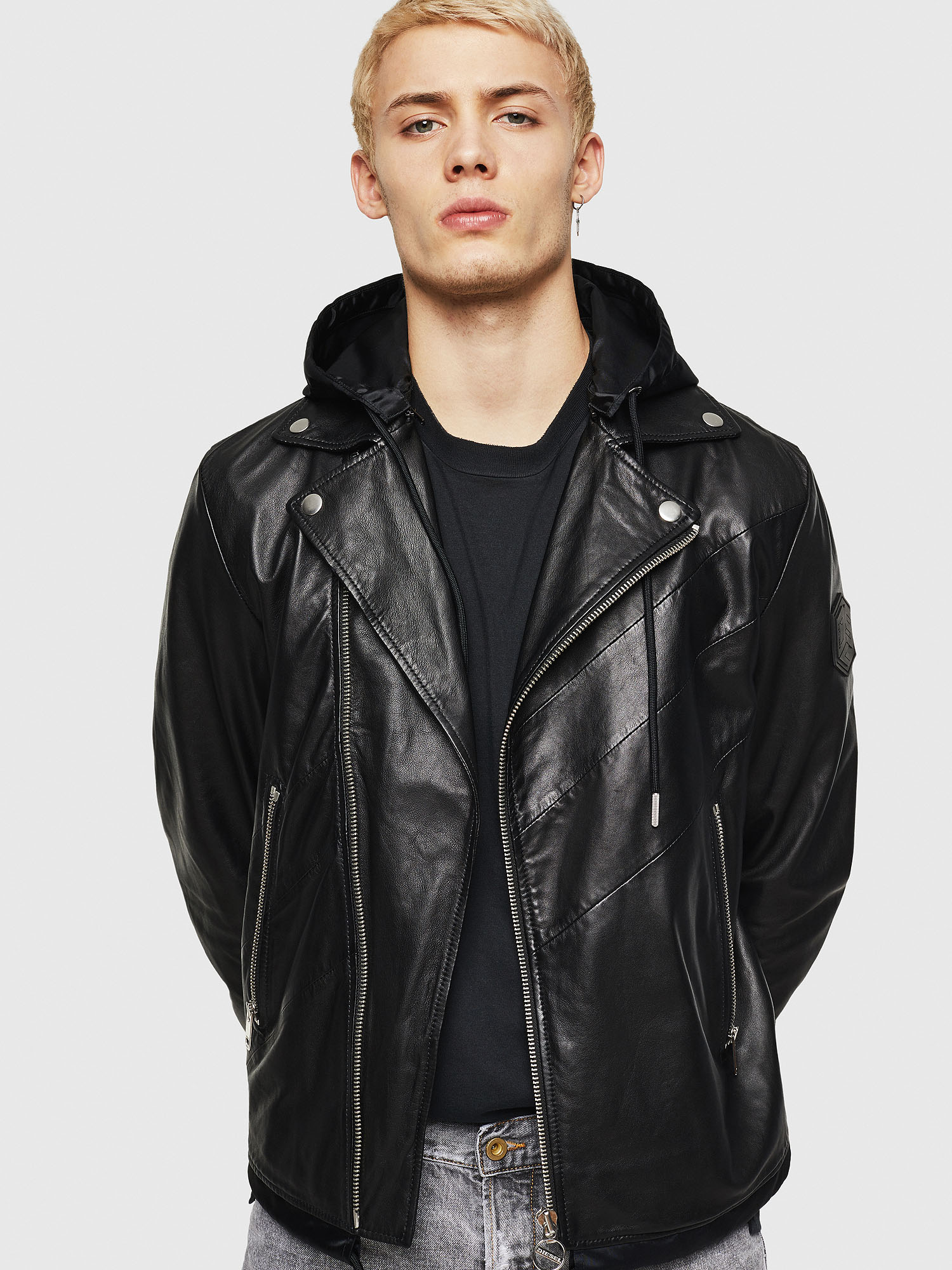 Diesel - L-SOLOVE,  - Leather jackets - Image 1
